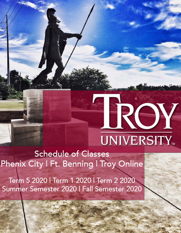 Phenix City Campus Schedule of Classes, Term 5, 1-2, Fall 2020