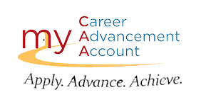 photo with words my career advancement account apply, Advance, achieve