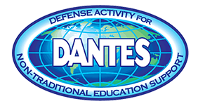 defense activity for non-traditional educational support logo over globe