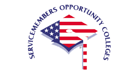 servicemembers opportunity college logo over graduation cap
