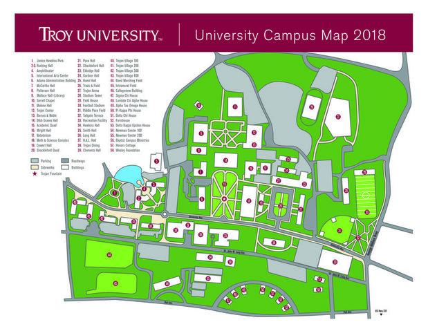 Troy-Campus-Map
