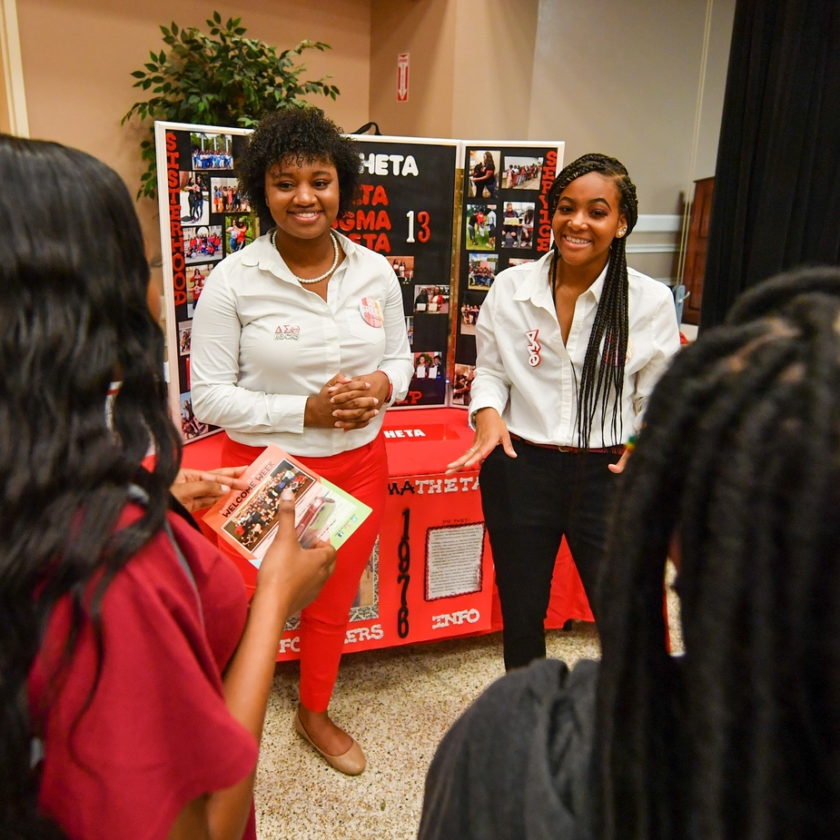 Delta Sigma Theta sisters at Troy University browse session