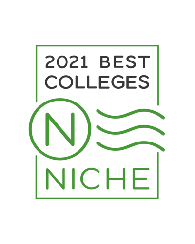 Niche.com 2021 Best Colleges Badge