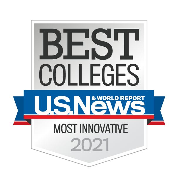 U.S. News and World Report Most Innovative College 2021 Badge