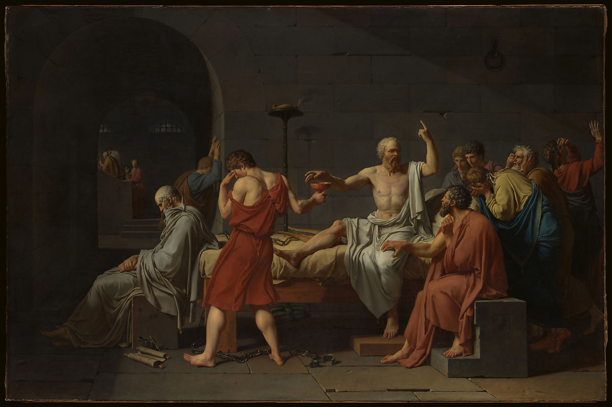 David, Death of Socrates