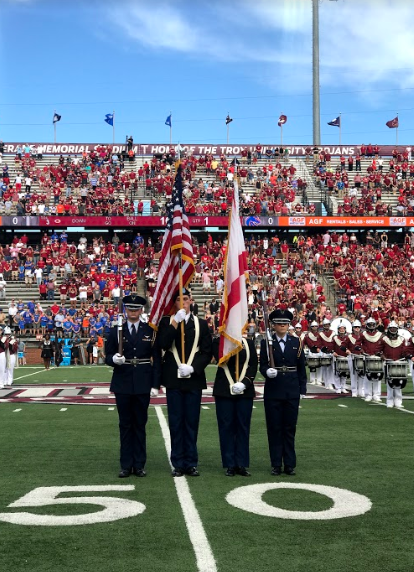 colorguard at troy game