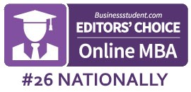 Editor's Choice, 2019 Online MBA Programs, BusinessStudent.com