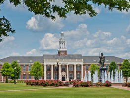 Bibb Graves Hall on the Troy, Alabama campus
