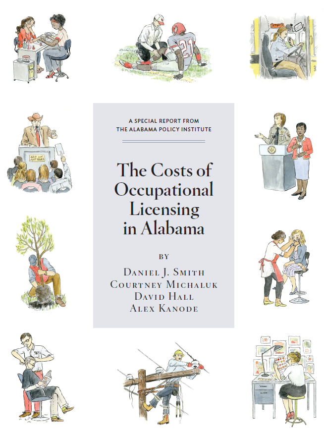 Cover of the Cost of Occupational Licensing report