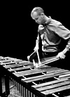 Dr. T Adam Blackstock playing marimba