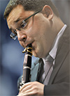 Dr. Timothy Phillips playing the clarinet