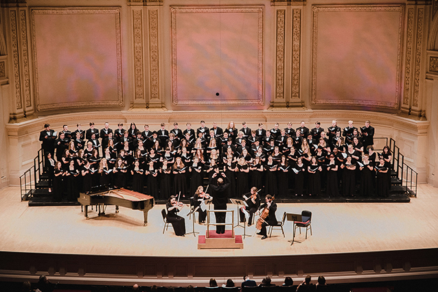 The Concert Chorale performs at Carnegie Hall