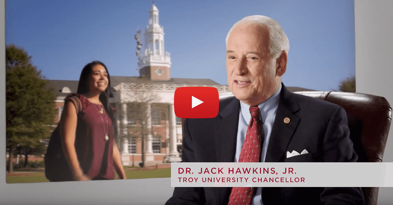 Chancellor Jack Hawkins talking about the University
