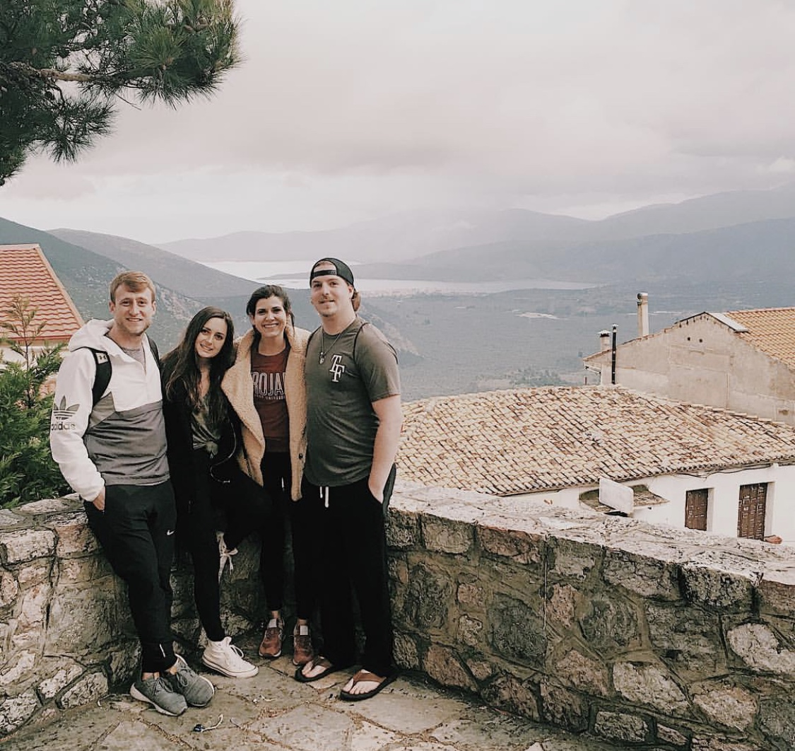 Some of our HSTM students sightseeing in Delphi, Greece.