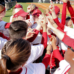 Troy University softball team celebrates
