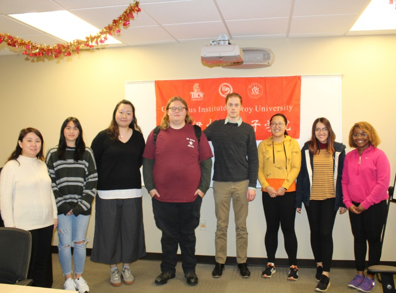 troy students at chinese mahjong workshop