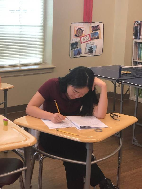students took HSK Test at the Troy University in Montgomery Campus