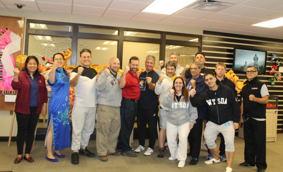 A martial arts group from Argentina visited the Confucius Institute at Troy University
