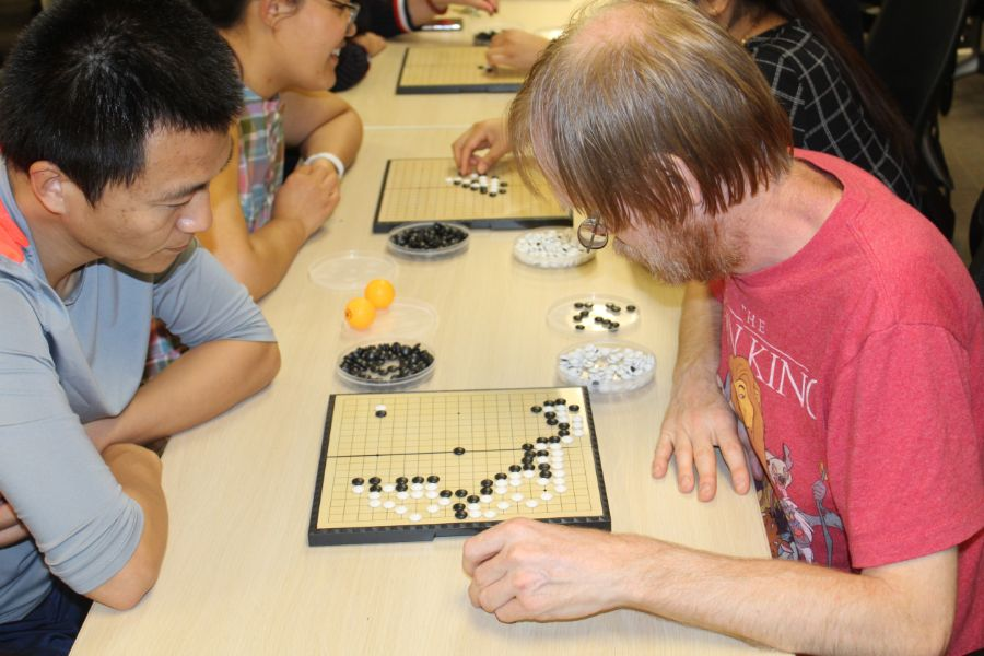 the participants played Go with each other