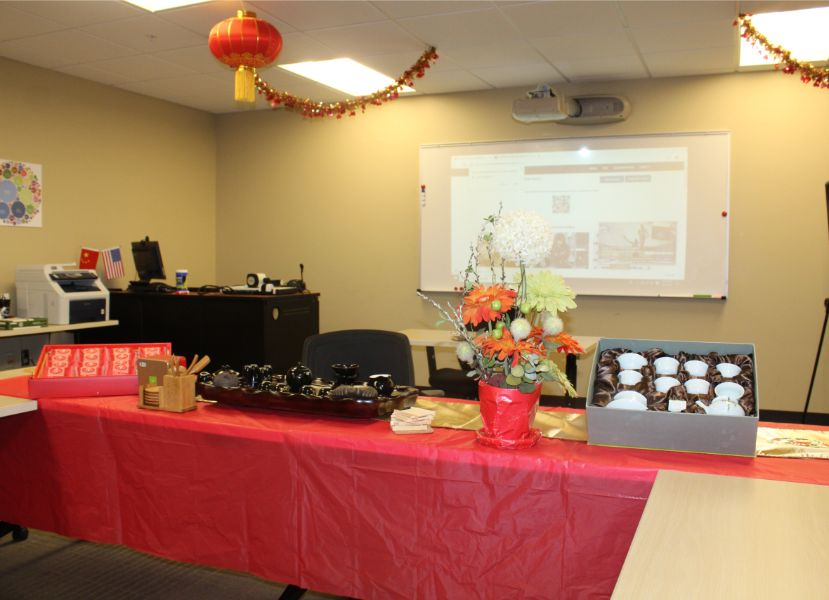 tea ceremony set up at the event