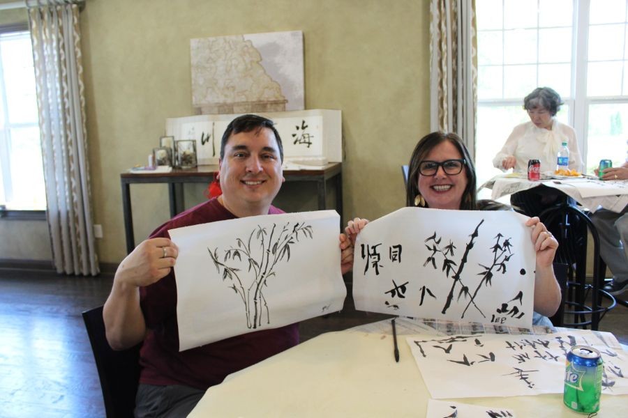 Troy locals showed their Chinese paintings