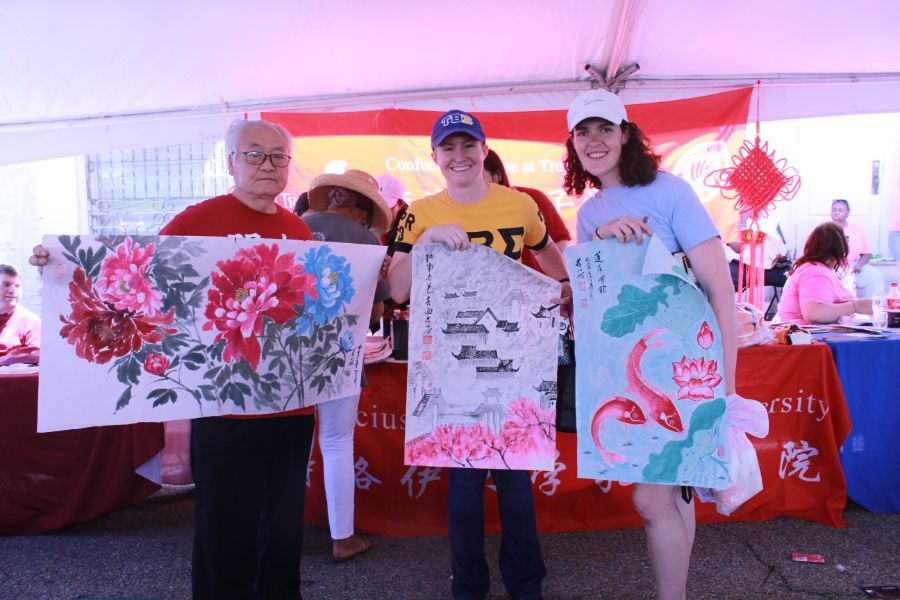 Troy locals showed Chinese paintings