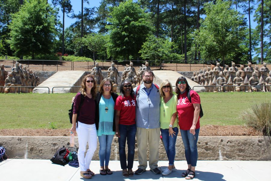 group picture of teachers from Eclectic Middle School in Elmore County, Alabama