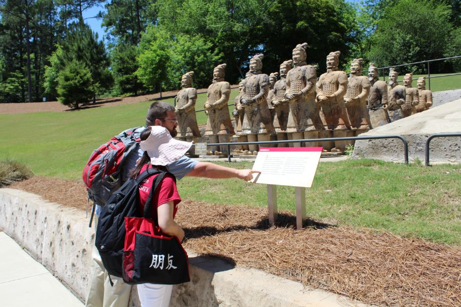 teachers from Eclectic Middle School in Elmore County, Alabama were interested in Chinese culture