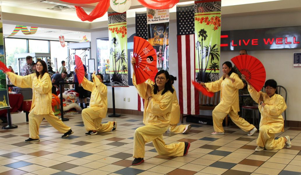 CI scholars performed taichi with fans