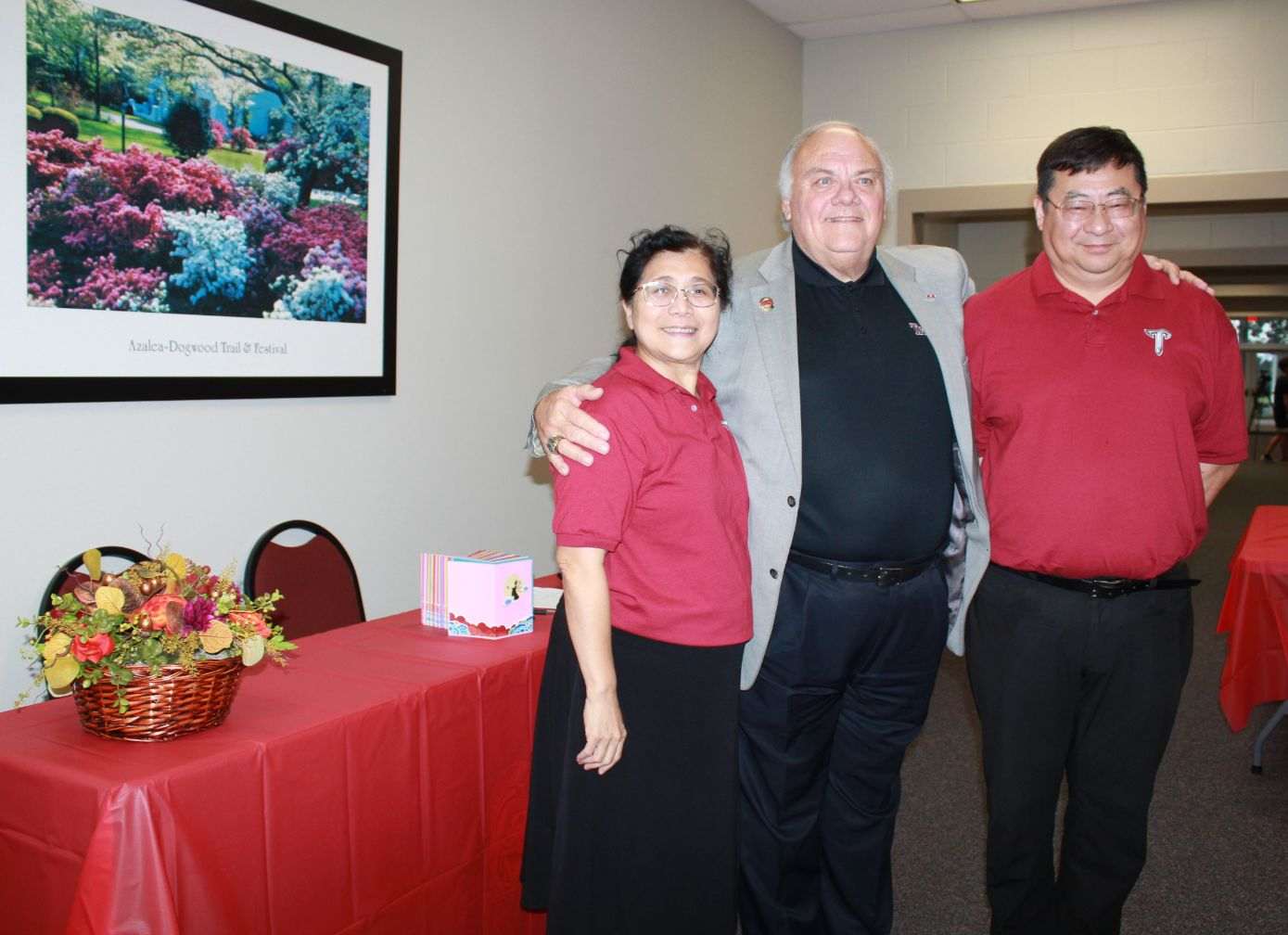 CIT's Dr. Xu and Dr. Feng pose with Dothan's Dr. Jeffrey.