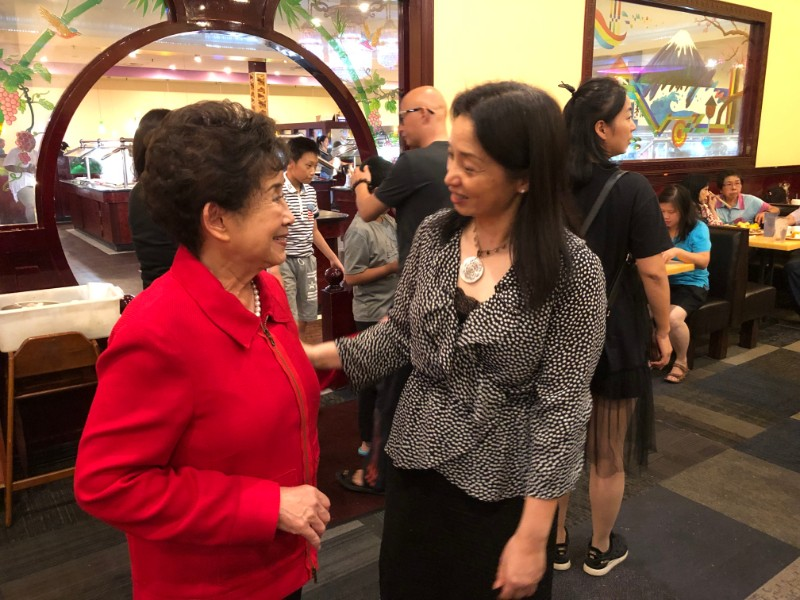 Dr. Fang introduces CIT to Ms. Chen, President of the Central Alabama Association of Chinese.