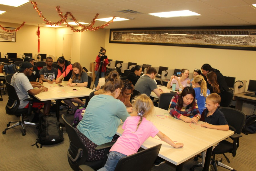 Troy students were attentive during the workshop