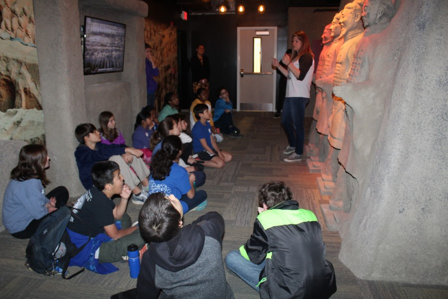 Students were interested in the presentation about terra cotta warriors