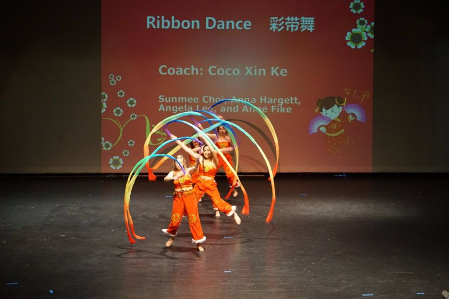 students performed ribbon dance during the summer camp