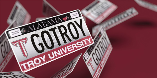 Troy license plate poster