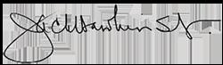 Signature of the Chancellor Jack Hawkins, Jr.