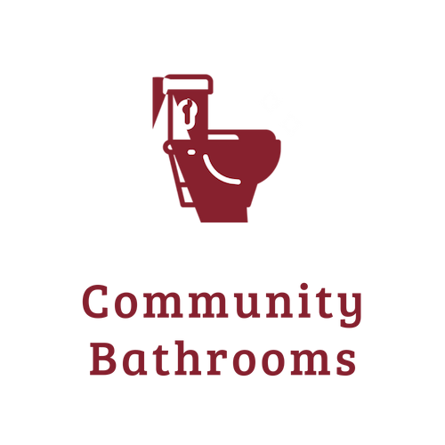 Community Bathrooms - from https://www.iconfinder.com/icons/3954619/bath_bathroom_restroom_toilet_washroom_icon