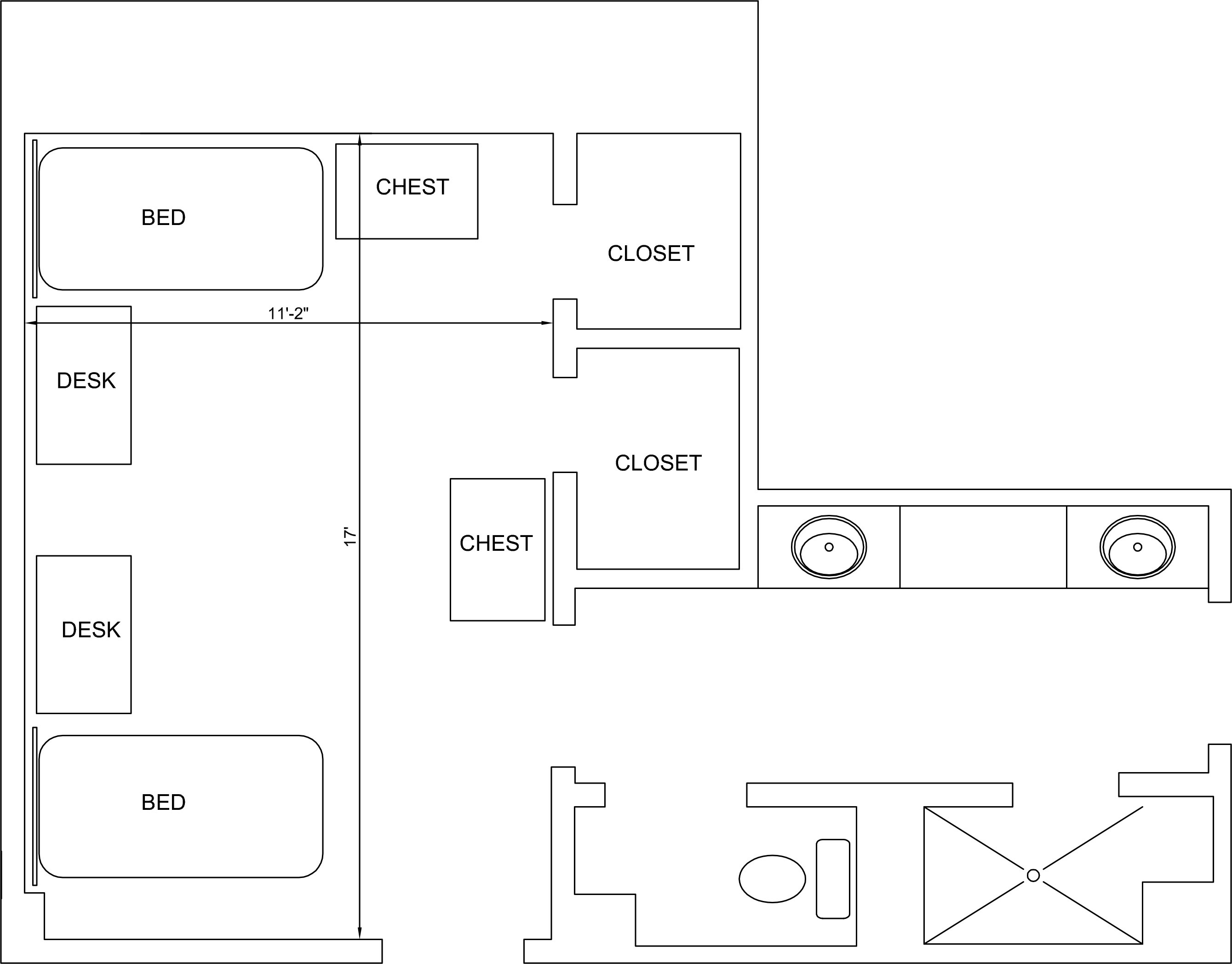 Shackelford Quad Floorplan