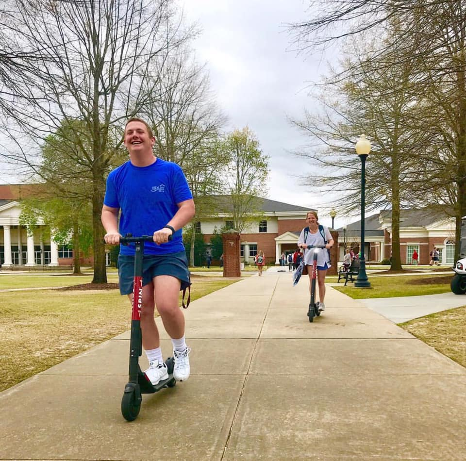 Spin Scooters at Troy University