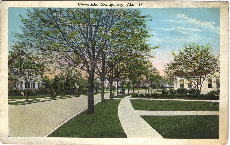 Postcards of Historic Streets in Montgomery AL