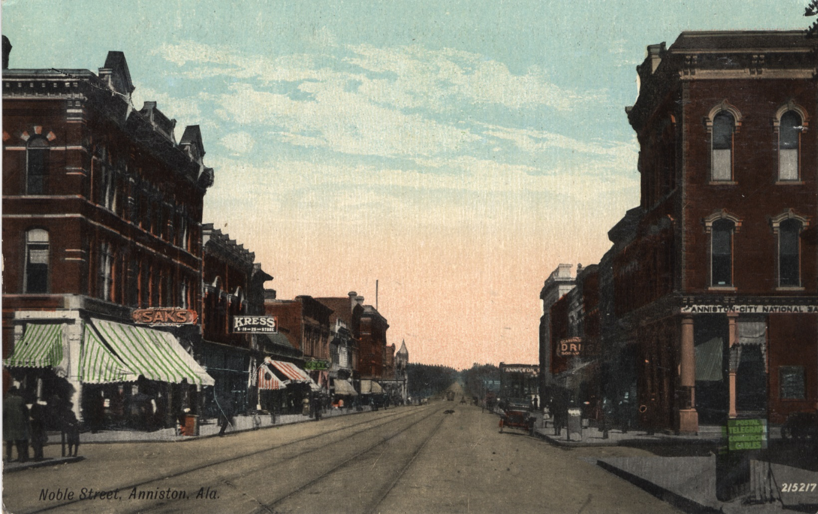 Postcards of Historic Streets in North Central AL