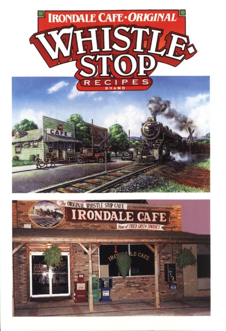 A color print and a color photograph of the Irondale Cafe, also known as the Whistle Stop Cafe, in Irondale, Alabama.