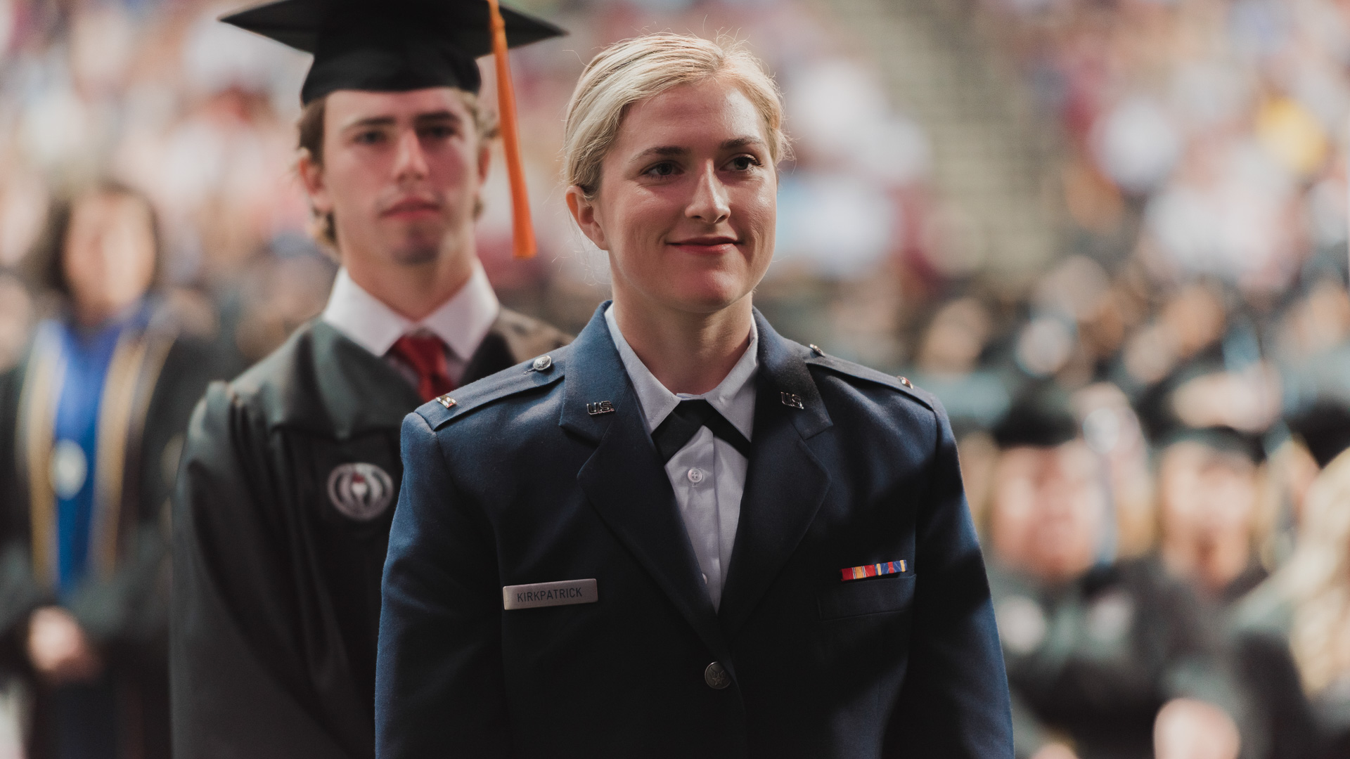Military Students at Commencement