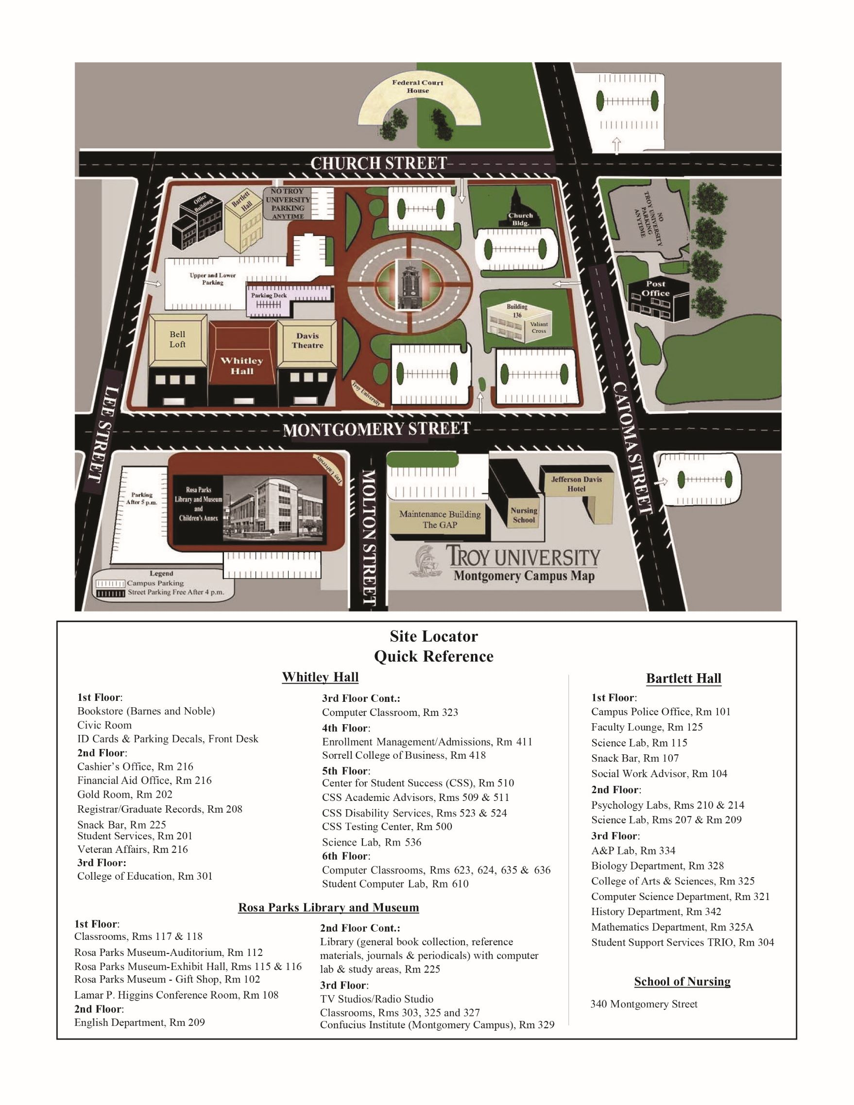 Montgomery Campus Map