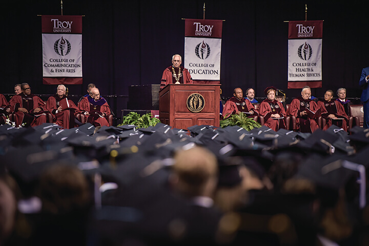 Commencement on the Troy Campus