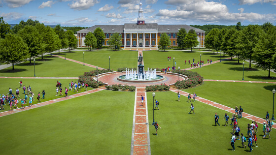 Troy University Quad, Troy, Alabama campus