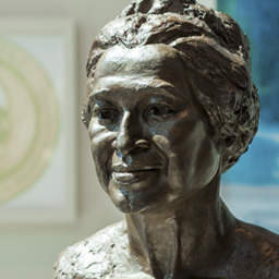Rosa Parks statue overlooks students