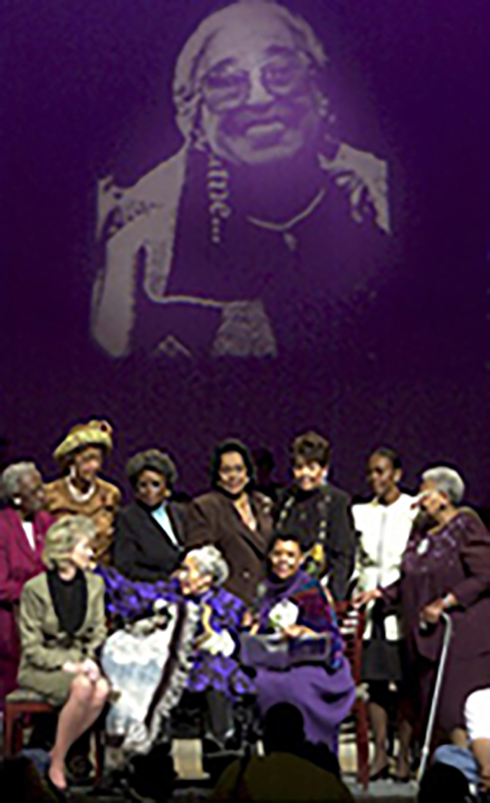 Rosa Parks at dedication ceremony