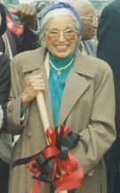 Rosa Parks at the Museum Groundbreaking