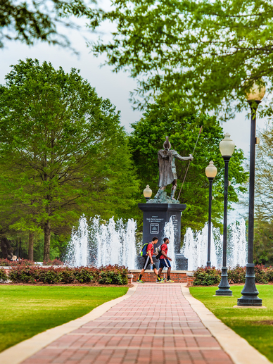 Main Quad Path at Troy University